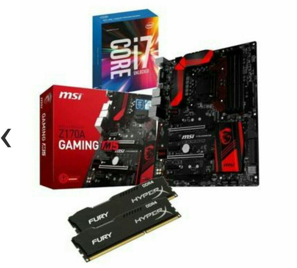 Kit évolution i7-6700K + MSI Z170A Gaming M5 + Kingston HyperX Fury DDR4 8 Go (2 x 4 Go) + Tom Clancy's Rainbow Six Siege (ODR de 30€)
