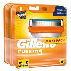 Lot de 10 lames Fusion 5 pour rasoir Gillette (via 20.93 € sur la carte fidélité)