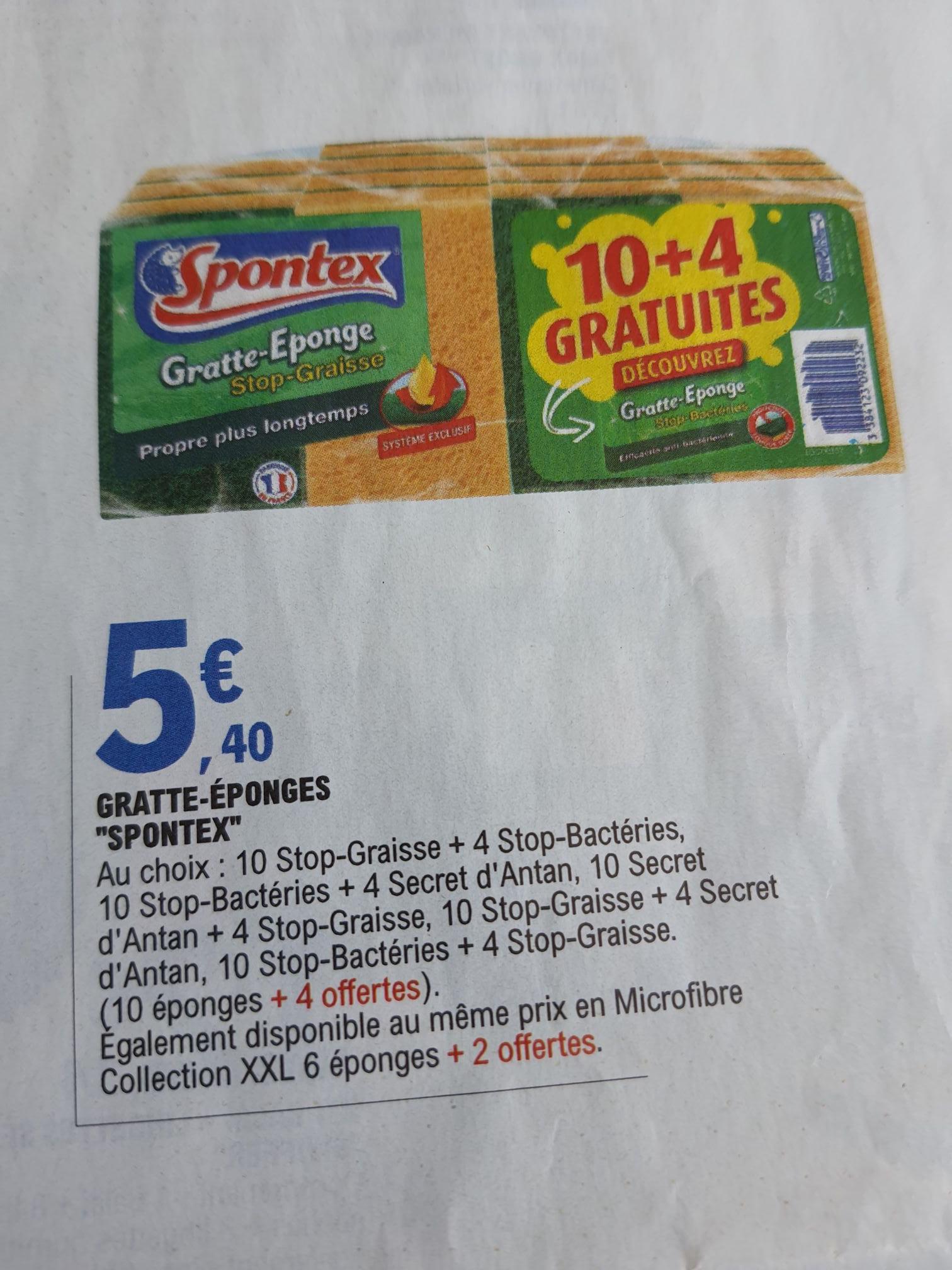 Pack de 14 Éponges Spontex