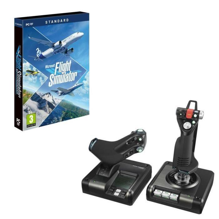 Joystick Saitek Logitech X52 Pro Flight Control System + Microsoft Flight Simulator sur PC