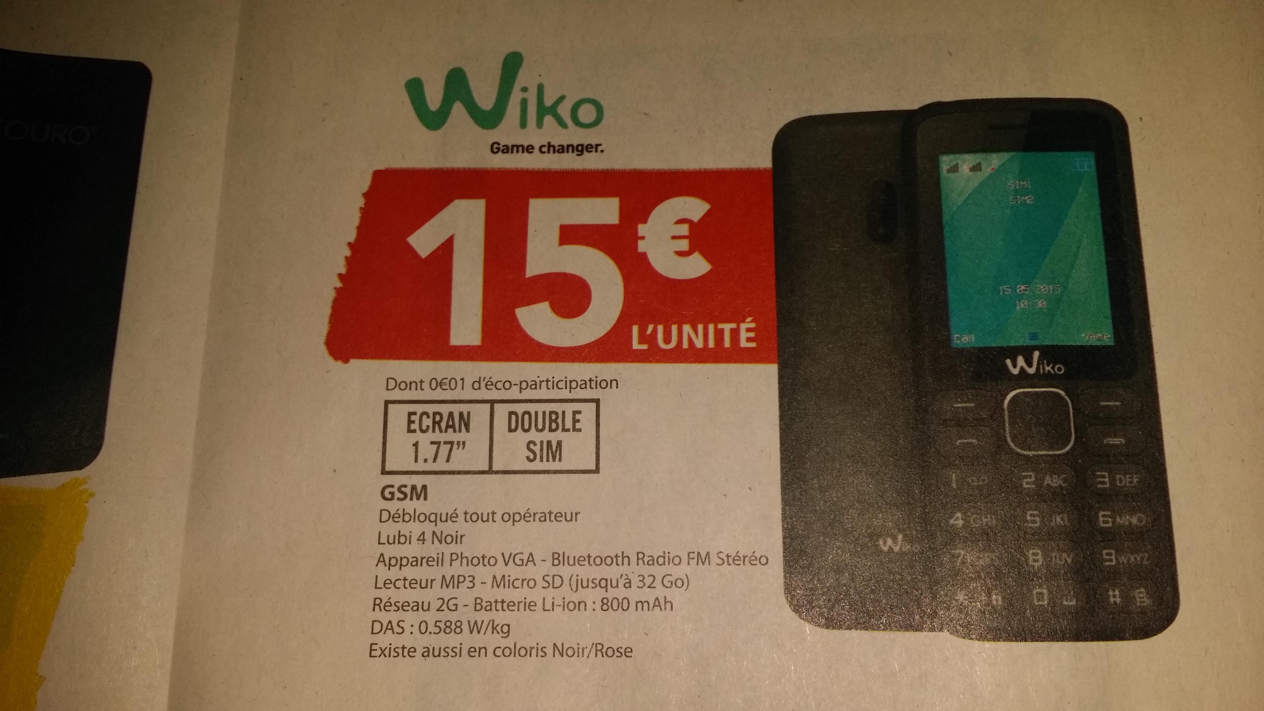 Téléphone Wiko Lubi 4 (Dual SIM) - Noir ou Rose