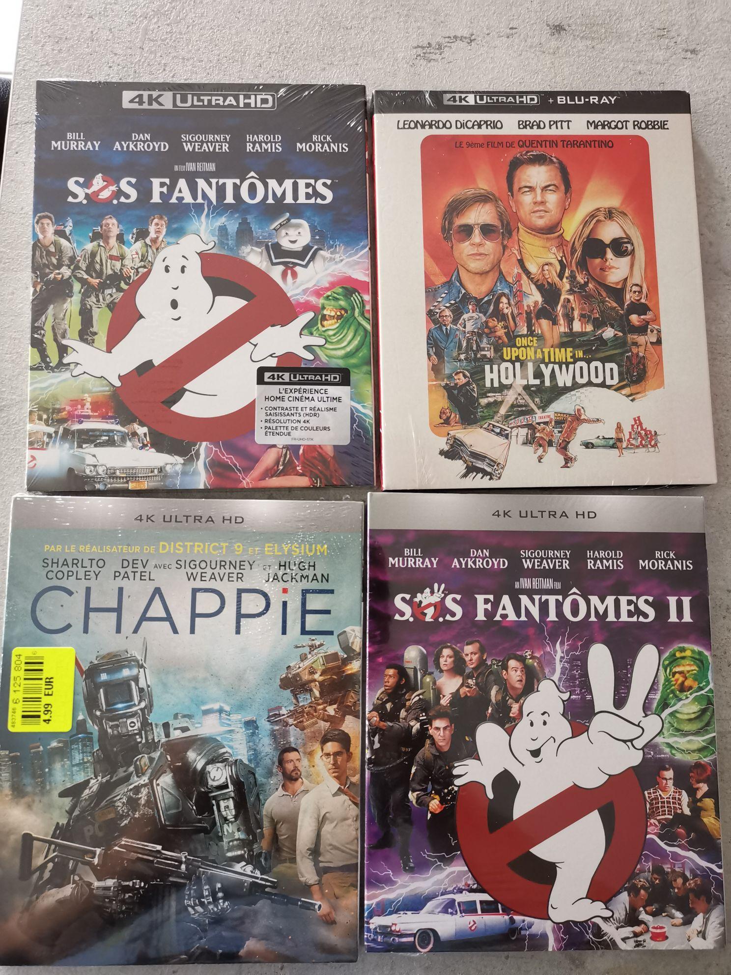 Sélection de Blu-ray 4K UHD à partir de 4.99€ - Ex : SOS Fantômes 1 ou 2 - Avranches (50)