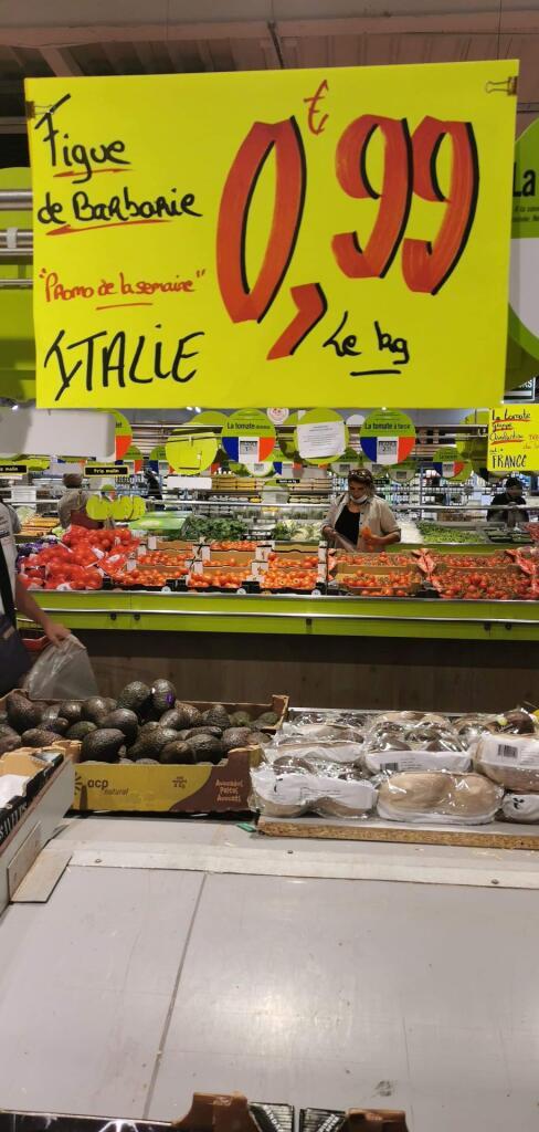 Figue de barbarie (Origine Italie) - 1Kg