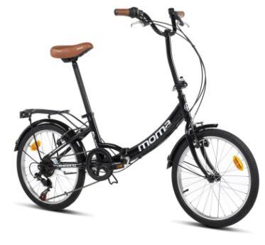 Vélo ville pliant Moma Bikes First Class 2 - Noir, 6 Vitesses