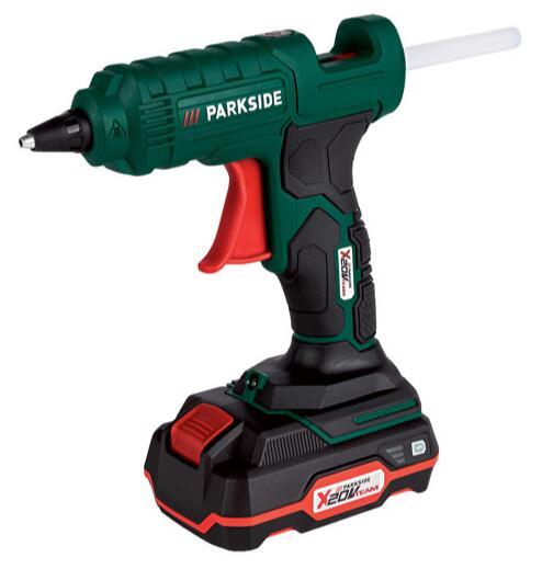 Pistolet à colle Parkside à batterie - 180° max