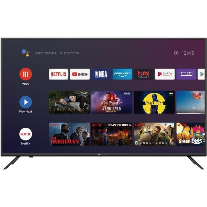 "TV 43"" Continental Edison CELED43SA220B7 - 4K UHD, LED, HDR 10, Android TV"