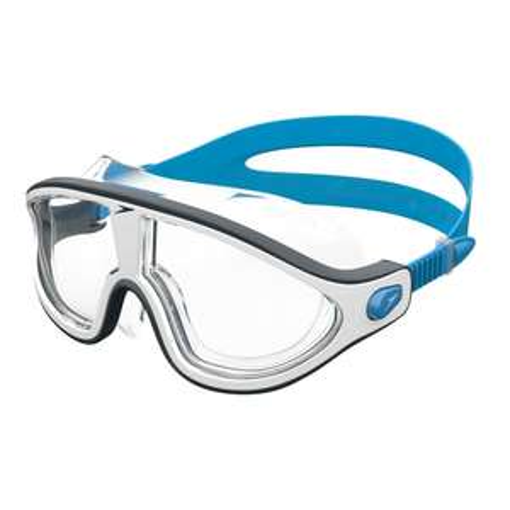 Lunettes de natation Speedo Biofuse Rift - blanc/bleu