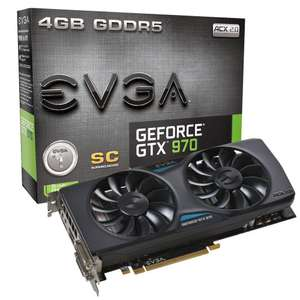 Carte graphique EVGA GeForce GTX 970 Gaming Superclocked ACX 2.0, 4 Go + Rise of the Tomb Raider sur PC