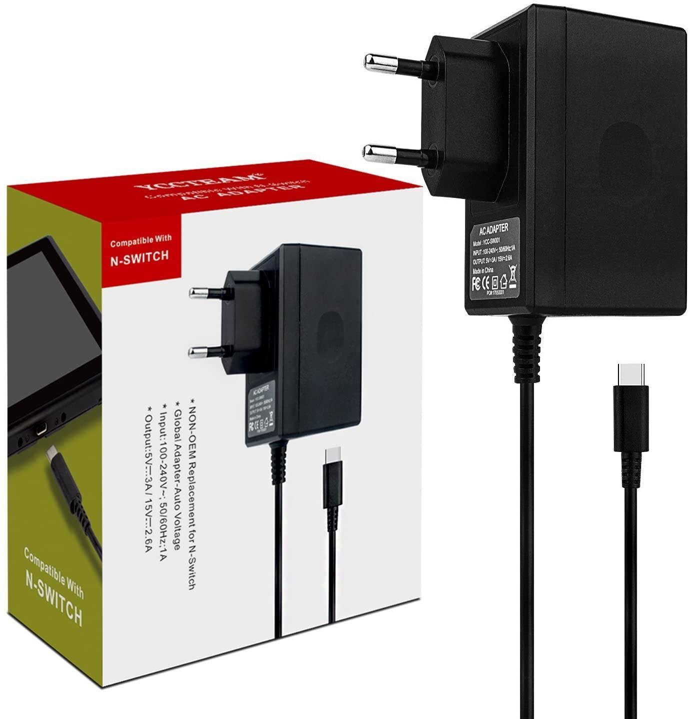 Chargeur secteur USB C YCCTEAM compatible Nintendo Switch ou Switch Lite (Vendeur Tiers)
