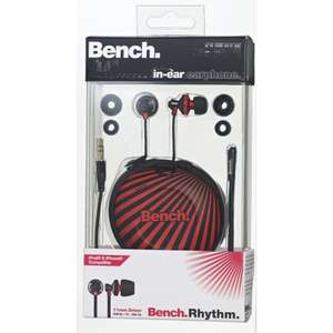 Écouteurs intra auriculaires Bench Intra Rhythm N Rouge/Noir