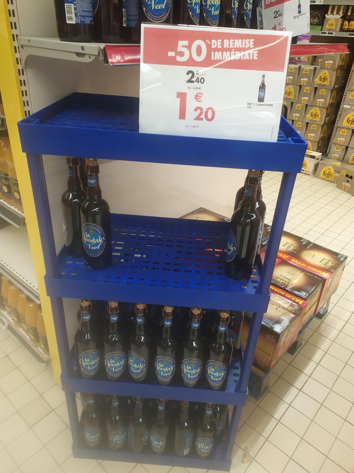 50% de remise sur une sélection d'alcools - Ex: Bière Goudale de Noël 75cl (Epernay 51)