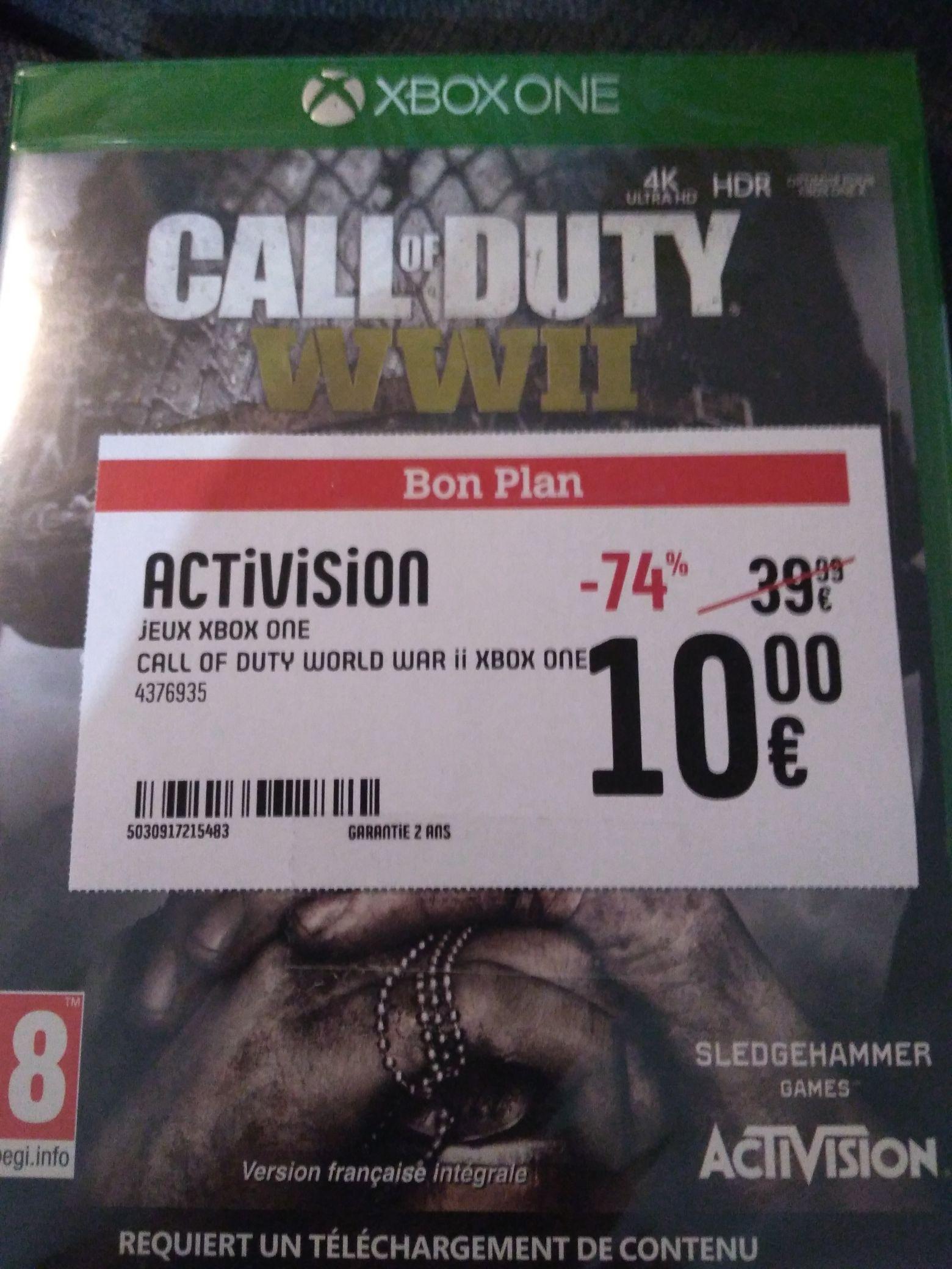 Jeu Call of Duty WWII sur Xbox One - Darty de Chanteloup-en-Brie (77)