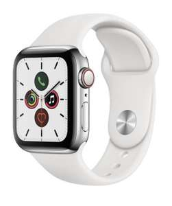 Montre connectée Apple Watch Series 5 (GPS + Cellular) - 40 mm, bracelet sport, blanc