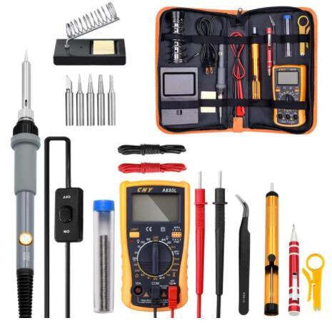 Kit de Fer à souder - 60W avec multimètre numérique et accessoires