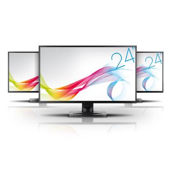 Écran PC LCD Iiyama ProLite E2481HS-B1 - pack triple écrans et pied