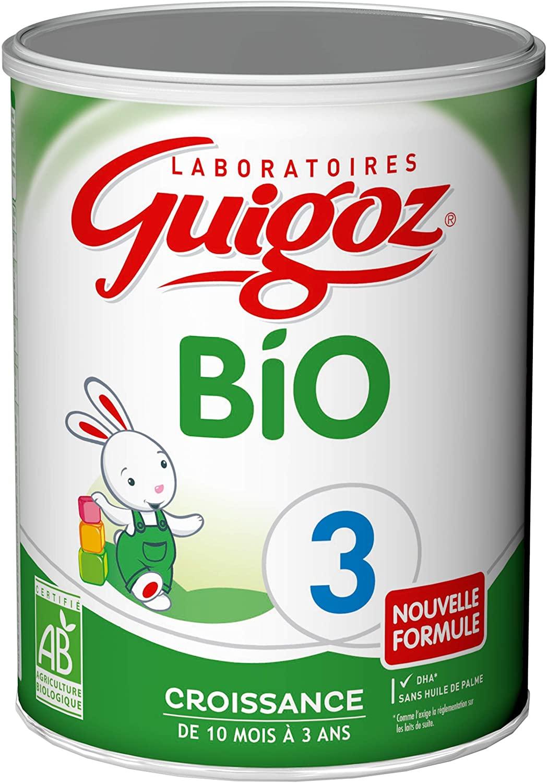 Lot de 6 boîtes de lait de croissance en poudre Guigoz Bio 3 - de 1 à 3 ans, 6 x 800 g