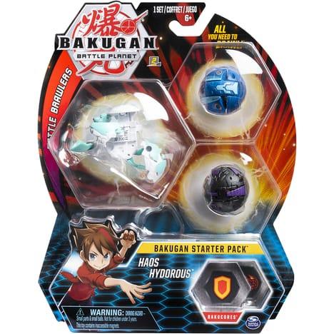 Starter Pack figurine Bakugan Haos Hydorous + cartes (Via 13,79€ sur la Carte fidélité)