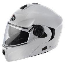 Casque Airoh Rides blanc + intercom Twiinq  Kit main libres D1 VA
