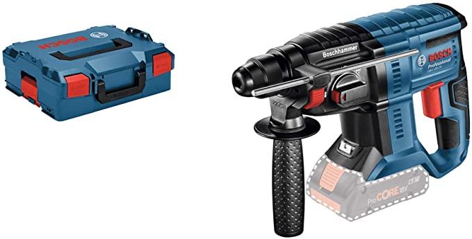 Marteau Perforateur Sans-Fil Bosch Professional 611911001 GBH 18 V-20 Solo - 1,7J Ø, Perforateur 4 - 20 mm, Pack d'Accessoires, L-Boxx