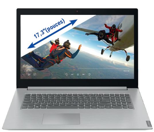 "PC Portable 17,3"" Lenovo IdeaPad L340-17API - HD+, Ryzen 3 3200U, 8 Go RAM, 128 Go SSD + 1 TO HDD, Windows 10"