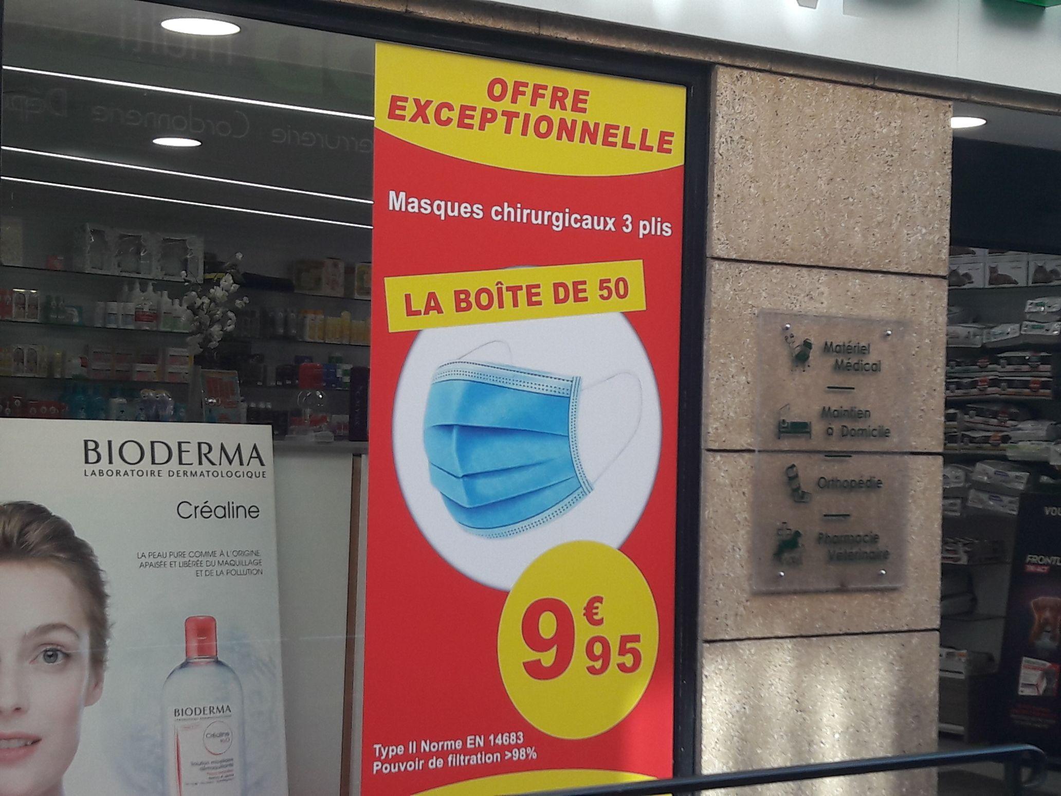 Boîte de 50 masques chirurgicaux type II BFE - Pharmacie des Cordeliers Aix en Provence (13)