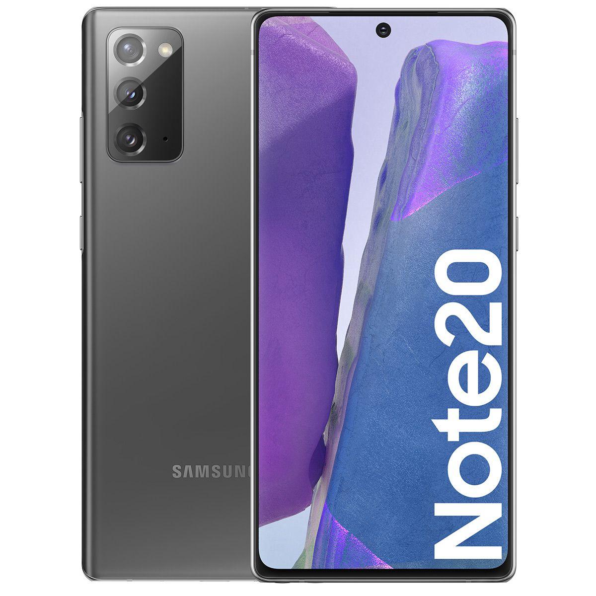 """Smartphone 6.7"""" Samsung Galaxy Note 20 (4G) - Full HD+, Exynos 990 ou Snapdragon 865+, RAM 8 Go, 256 Go (+ Jusqu'à 100.50€ en SuperPoints)"""