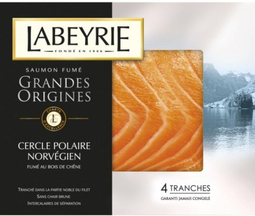 Saumon fumé grandes origines Norvège Labeyrie - 4 tranches 130g (via BDR)