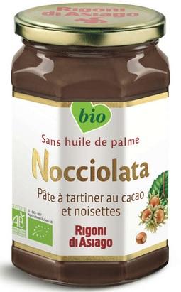 Pot de Pâte à Tartiner Bio sans huile de palme Nocciolata Rigoni di Asiago - 270g