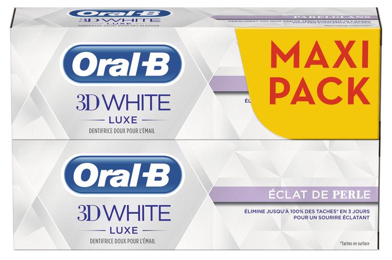Lot de 2 dentifrices Oral-B - Différentes variétés ( via BDR)