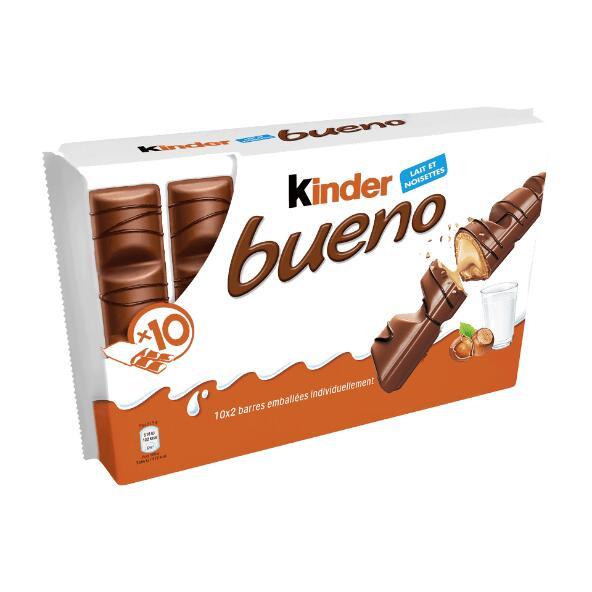 Paquet de 10 barres de chocolat Kinder Bueno