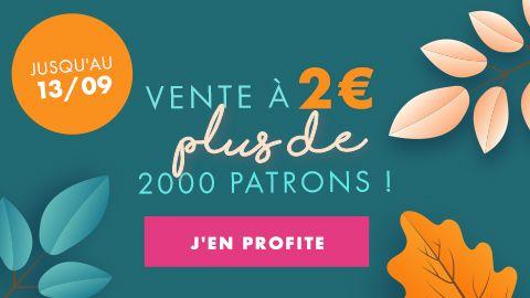 Sélection de Patrons de couture, crochet, tricot à 2€ (Dématérialisé)