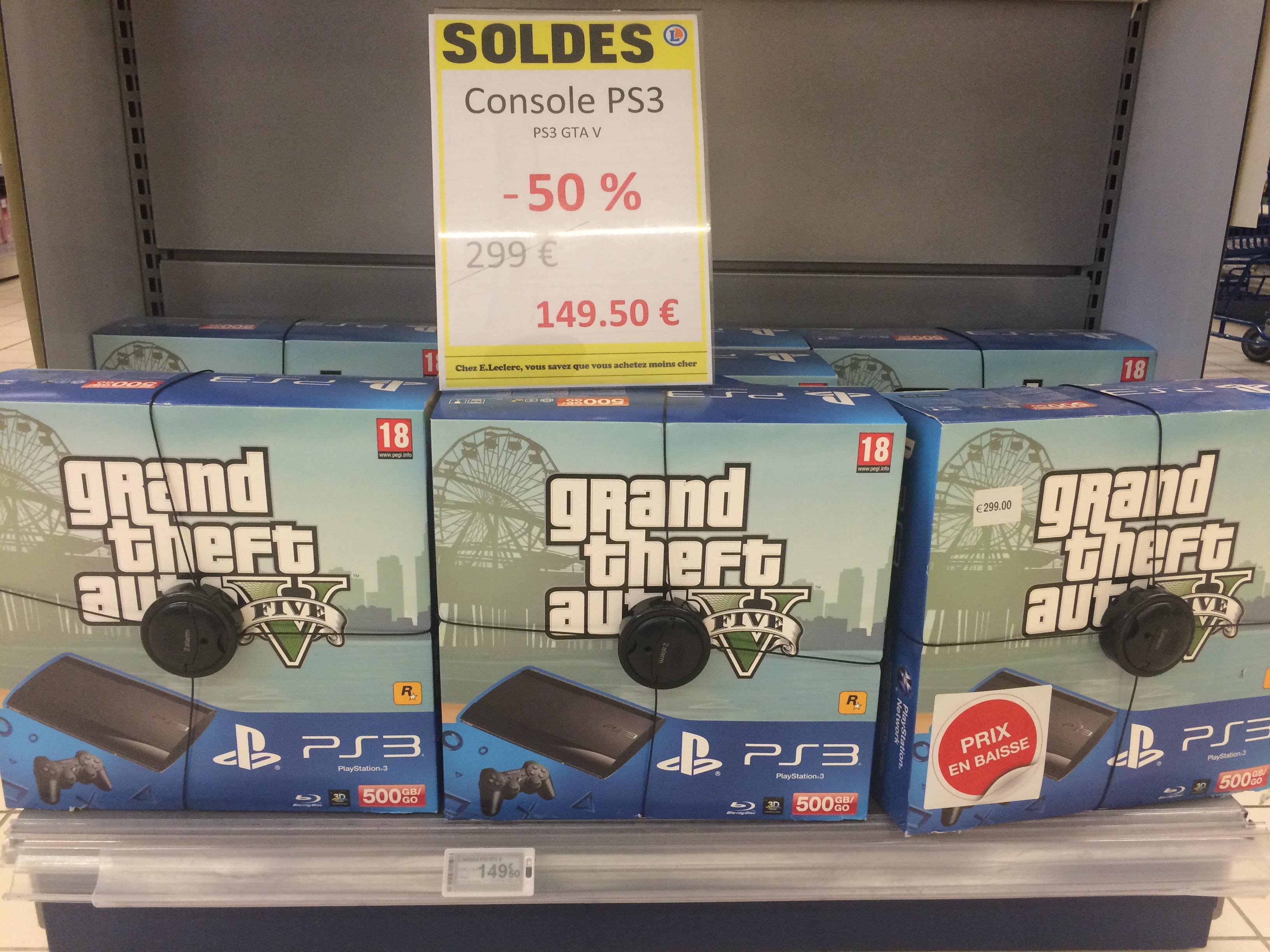 Console Sony PS3 500 Go + GTA V