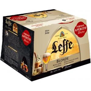1 Pack de 20 Bières Blonde d'abbaye Leffe