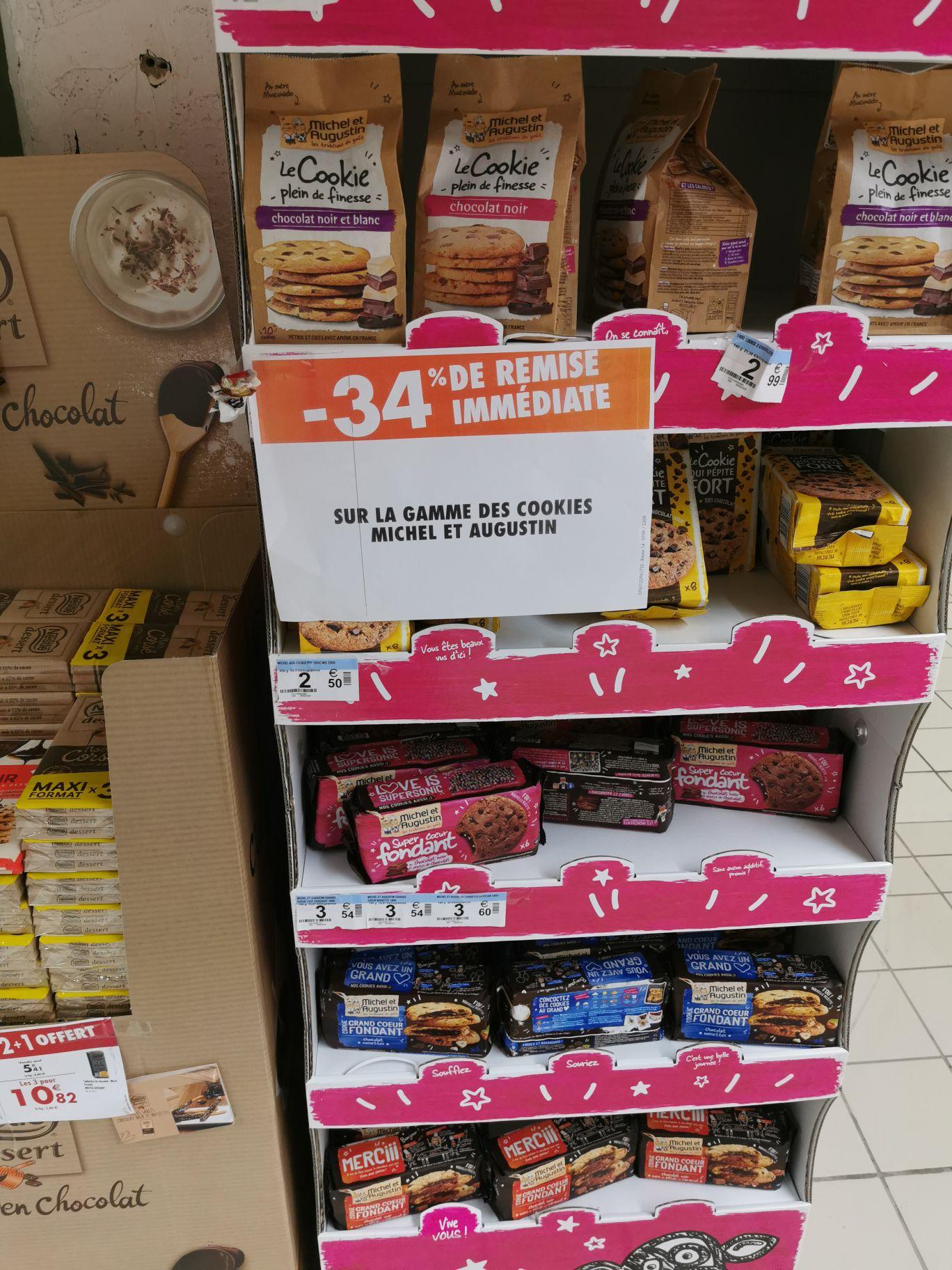 Sélection de produits Michel et Augustin - Ex : Lot de 2 Paquets de 6 Cookies Fondants Michel et Augustin - 2 x 180 g (Via Shopmium)