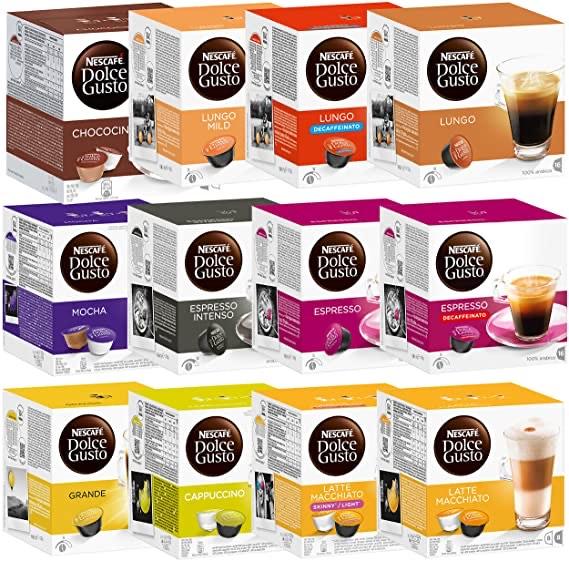 2 Boites de 16 capsules de café Dolce Gusto au choix