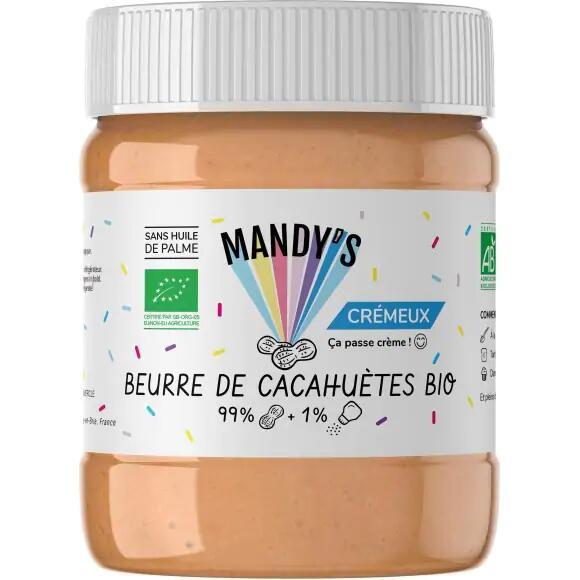 Beurre de cacahuète Bio Mandy's - Crémeux, sans huile de palme -30%