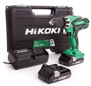 Perceuse à percussion Hikoki DV18DGL/JMZ - 18V (2x Batteries 3.0Ah) Li-Ion avec Coffret