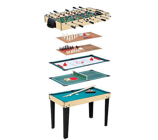 Table multi jeux 10 en 1 - Naturel