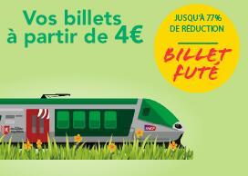 Billet Futé de TER à partir de 4€ - TER Nouvelle Aquitaine