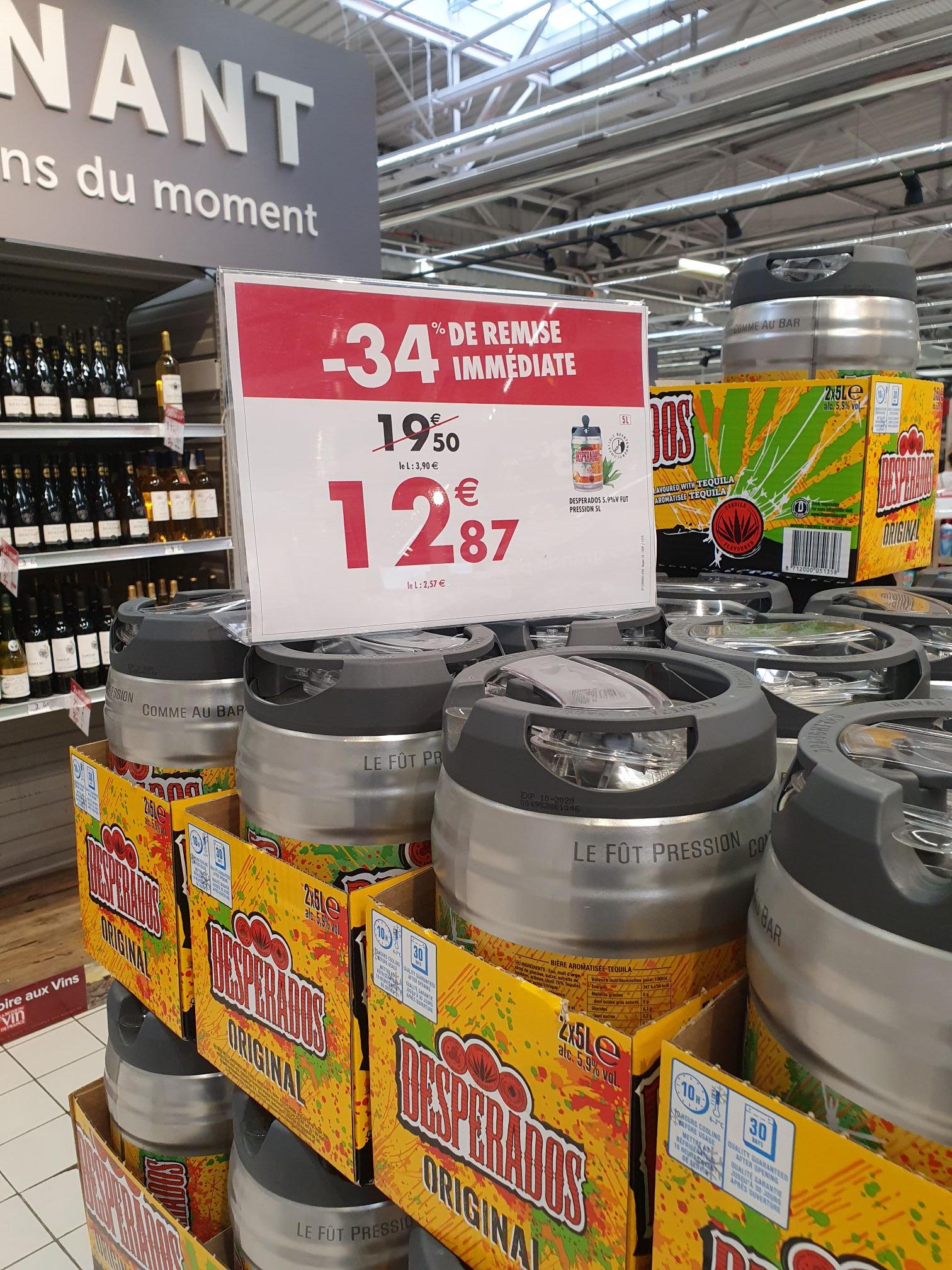 Fût de bière Desperados - 5 L (Évreux - 27)
