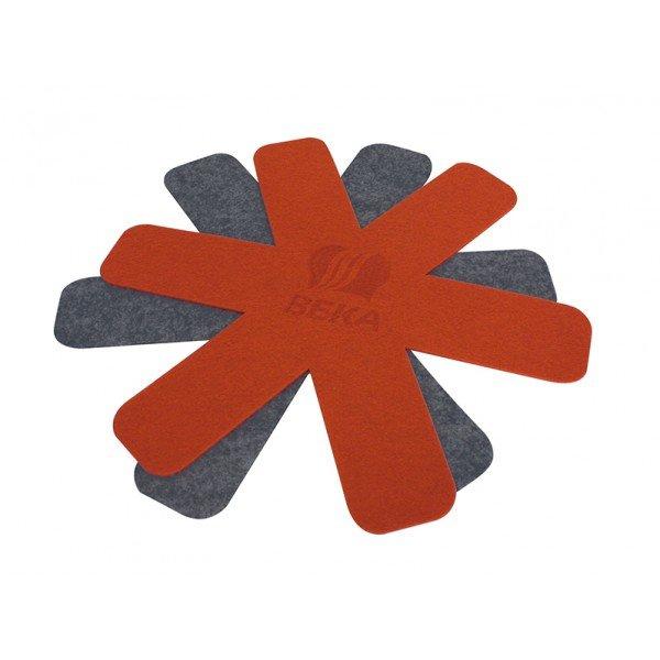 Feutrine Beka 12003964 - Rouge/Gris, 49 x 39 x 1 cm