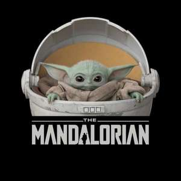 "T-shirt ""The Mandalorian"" - Baby Yoda noir"