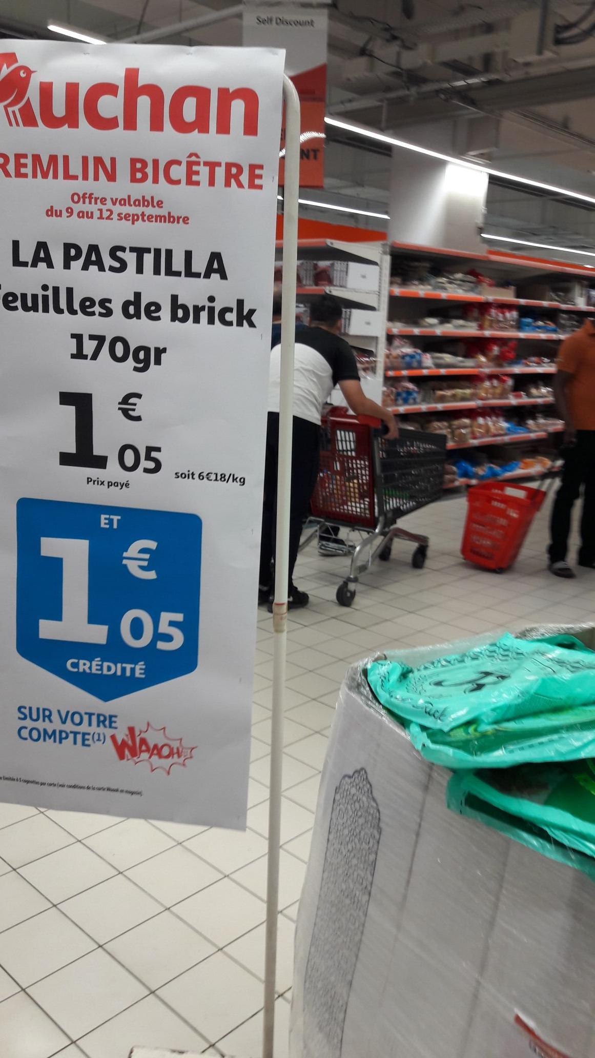 Feuilles de bricks La Pastilla 100% remboursées sur la carte fidélité (170gr) - Le Kremlin-Bicêtre (94)