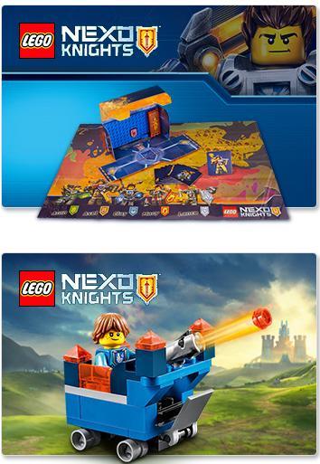 Lego Nexo Knights - Station de combat et Mini Fortrex de Robin offerts dès 30€ d'achat