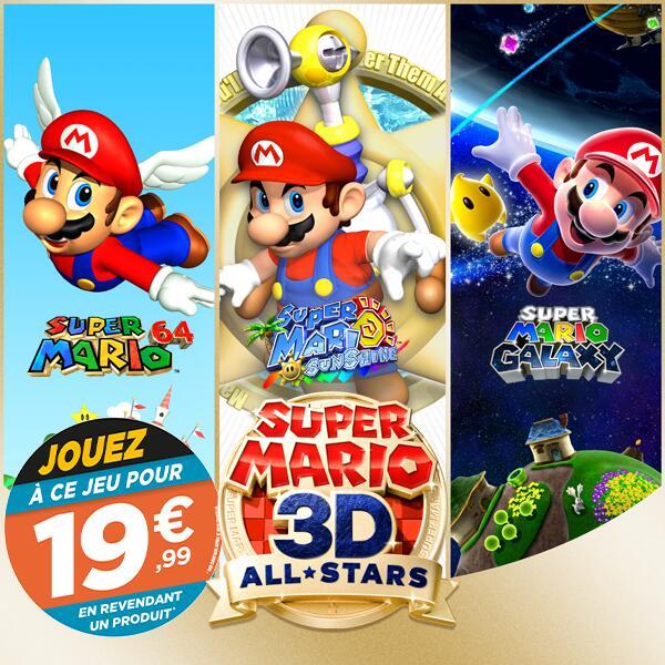 Super Mario 3D All Stars sur Nintendo Switch (via reprise d'un jeu parmi une sélection)