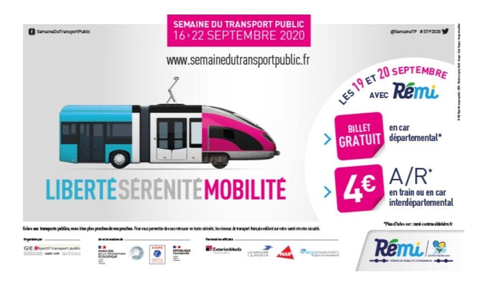 Billet gratuit en car départemental ou 4€ A/R en train ou car interdépartemental - Région Centre-Val de Loire
