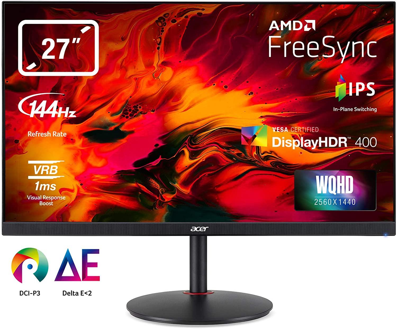 """Ecran PC 27"""" IPS LED Acer Nitro XV272UPbmiipx - 144 Hz - 2560 x 1440 1MS (Vendeur Tiers)"""