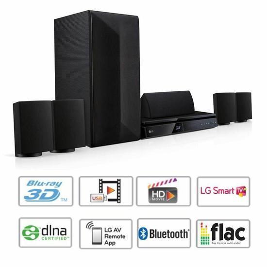 Home-Cinéma LG LHB625 Blu-ray 3D Bluetooth  - 1000W (ODR de 50€)