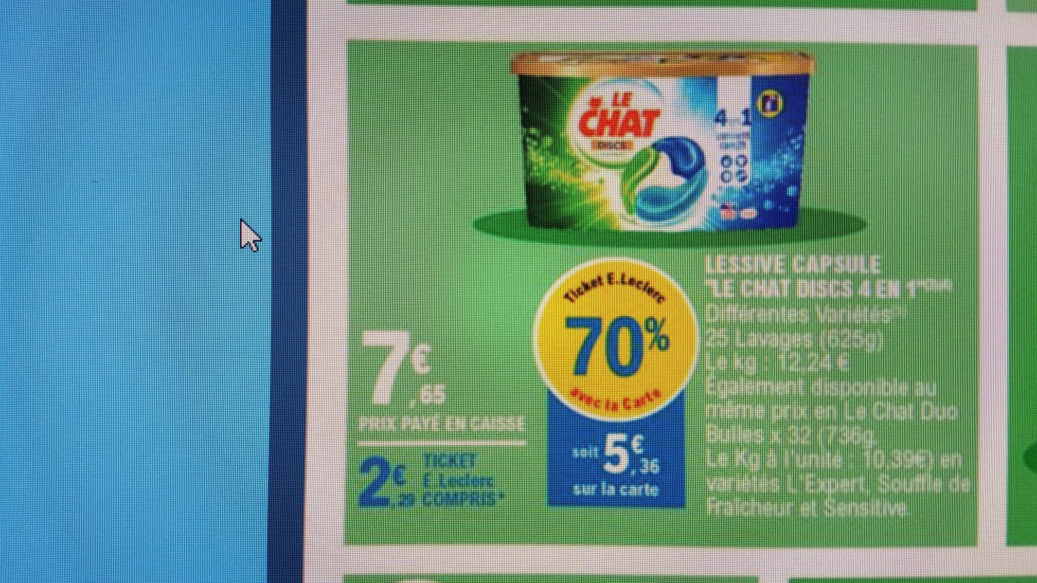 Boite de 25 capsules de Lessive Ecodoses Le Chat Discs 4-en-1 - variétés au choix (via 5.36€ sur la carte fidélité)