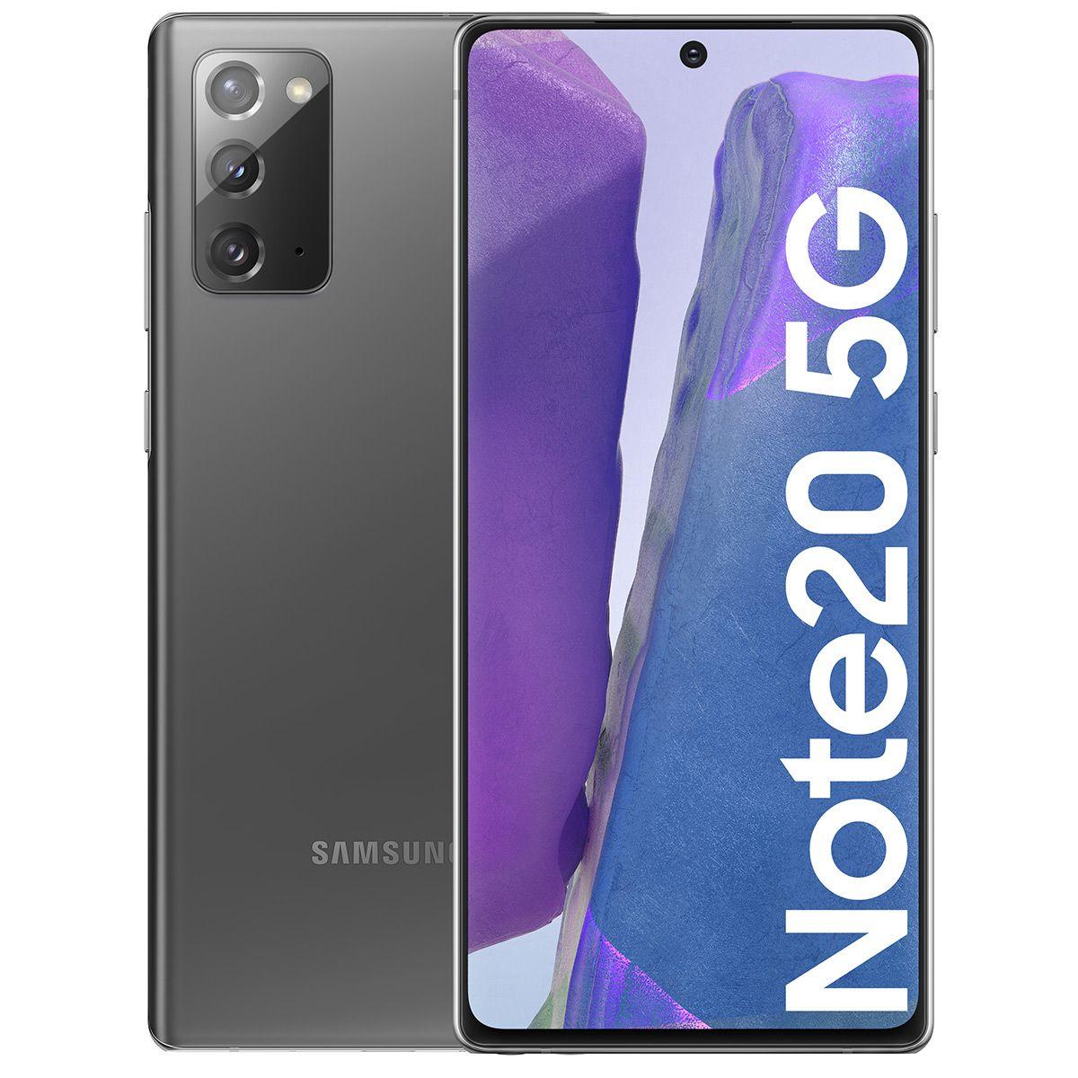 """Smartphone 6.7"""" Samsung Galaxy Note 20 (5G) - Full HD+, Exynos 990 ou Snapdragon 865+, RAM 8 Go, 256 Go (+ 69.90€ en SuperPoints)"""